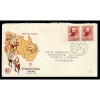 Australien, Commemorating the Centenary of John McDouel Stuarts expedition, FDC