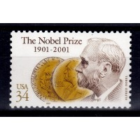 USA - SG.3970, 34c Centenary of Nobel Prizes, **