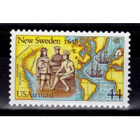 USA - SG.2345, 44c Airmail. 350th Anniversary of founding of New Sweden, **